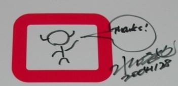 水口さんのサイン/クリックすると全体を表示